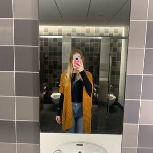 Knit Mustard  kimono
